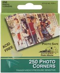Bulk Buy: Pioneer Photo Corners Self Adhesive 250/Pkg Clear PCR-1 (6-Pack) by Pioneer Photo Albums
