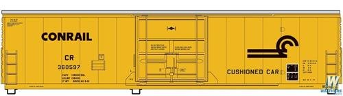 Conrail Boxcar - 50' FGE Insulated Boxcar - Ready to Run -- Conrail 360604 (yellow, black)