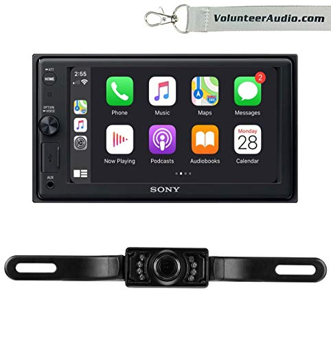 Sony XAV-AX1000 Double Din Radio Install Kit With Apple CarPlay, SiriusXM Ready, Free Reverse Backup Camera