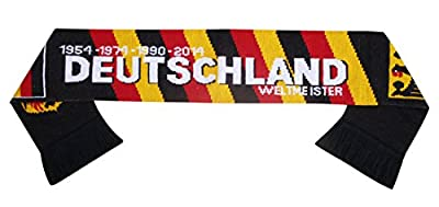 Germany Deutschland Soccer Knit Scarf Black