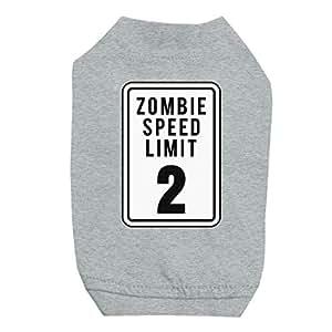 365 - Camiseta para Perros y Gatos pequeños con impresión Zombie Speed Limit: Amazon.es: Productos para mascotas