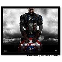 Innerwallz Captain America: The First Avenger Framed Art Prints 14 X 11 Frame, Wall Art, Pop Art, Poster | Rare Posters