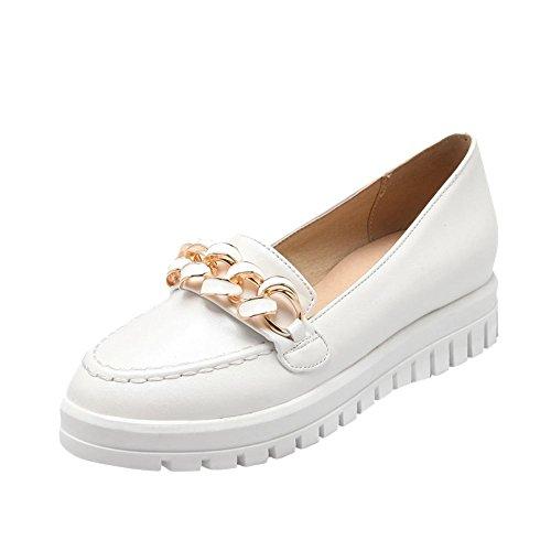 Latasa Mignonne Toutes Les Femmes Slip Sur Le Confort Robe Plate Chaussures Mocassins Chaussures Blanc