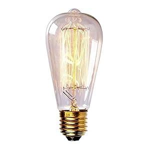 MADKING 60W Filament Bulb with Medium Base (E26) Nostalgia Edison Style, Antique Light Bulbs