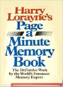 Harry Lorayne Page A Minute Memory Book