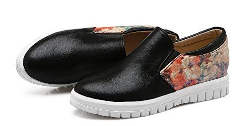 Femme D'orteil Tsfdh003205 Légeres Noir Correct Fermeture À Talon Aalardom Chaussures 4Uv8wdqE4g