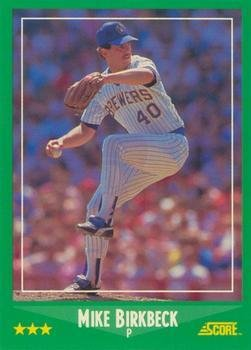 Amazoncom 1988 Score 369 Mike Birkbeck Milwaukee Brewers