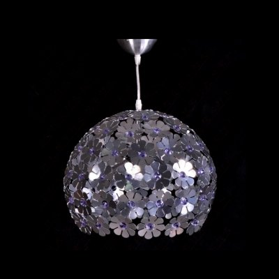 - fei Striking Blossom Aluminum Frame and Beautiful Crystal Accents Composed Eye-catching Large Pendant Light