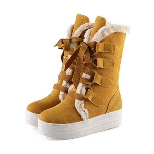 ter Snow Boots Waterproof Lace Up Winter High Top Waterproof Hiking Mid Calf Boot ()