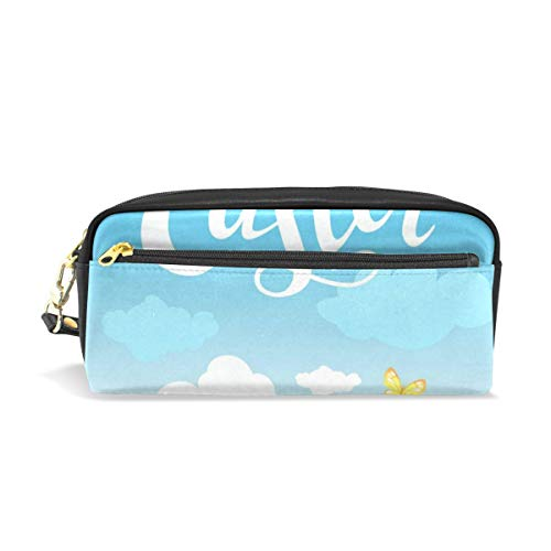 ster Cute Rabbit Flowers Egg Big Stationery Holder Cosmetic Bag with Zip Art Colored Pen Pouch for Kids Girls Boy (1 Pack) ()