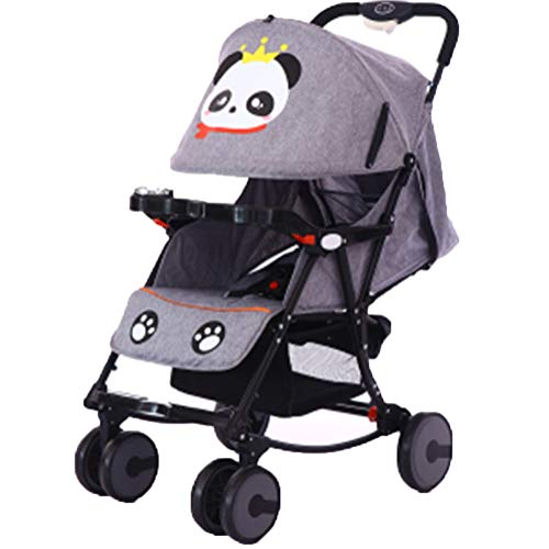 DYFAR Fashion Four Seasons prams fold High Landscape Toddlers Baby pushchairs Bidirectional Newborn Strollers Suitable for Children 0-3 Years Old, Gray