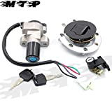 Star-Trade-Inc - Ignition Switch Seat Gas Cap Lock + Fuel Gas Cap Cover+ Keys for Suzuki GSF250 Bandit GSX 600 750 GS500 VX800 Motorcycle Part
