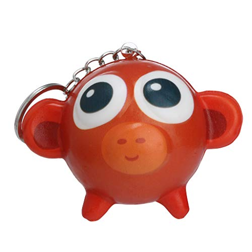Binory Squishy Toy,Mini Cute Animal Creative School Bag/Shoulder Bags/Keychain/Phone Ornament,Slow Rising Attractive Toy,Stress Relief Kawaii Decompression Toy,Children's Day Gift(Monkey) ()