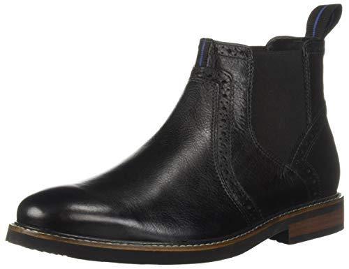 Nunn Bush Men Otis Chelsea Fashion Boot with KORE Comfort Walking Technology, Black Tumbled, 8.5