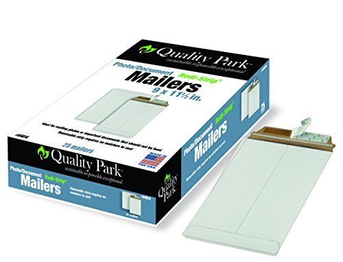 Quality Park Extra-Rigid Fiberboard Photo/Document Mailers, 9 x 11.5 Inches, Box of 25 (64014)