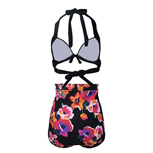 Elasticity Alta Sentao Vita 5 Costume Femminile Pezzi Swimsuit Swimwear Bikini Bagno Stile Da A Floreale 2 qwrvxrI