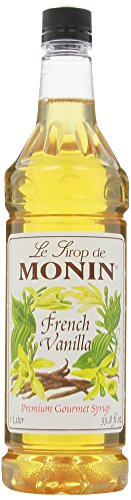 Monin Flavored Syrup, French Vanilla, 33.8-Ounce Plastic Bottles (Pack of ()