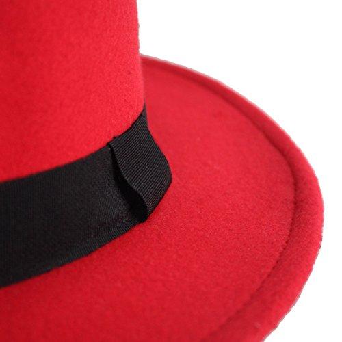 2ae40091c84cb2 NE Norboe Women's Brim Fedora Wool Flat Top Hat Church Derby - Import It All