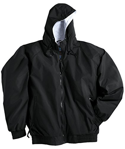 Tri-Mountain 3600 Men's Bay Watch Water Resistant Hooded Jacket Black XL