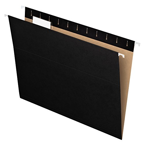 Pendaflex Recycled Hanging Folders, Letter Size, Black, 1/5 Cut, 25/BX (81605) by Pendaflex