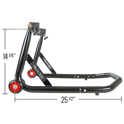 Black Widow BW-12-V2 Black Rear Motorcycle Stand Lift Pad Kit by Black Widow (Image #3)