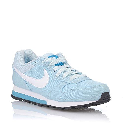 Nike Wmns MD Runner 2, Chaussures de Running Compétition Femme Bleu (Gletscher Blau/weiß-chlorblau)