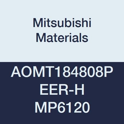 Mitsubishi Materials AOMT184808PEER-H VP15TF Coated Carbide Milling Insert Class M Parallelogram 85/° 0.031 Corner Radius Pack of 10 0.189 Thick Round Honing