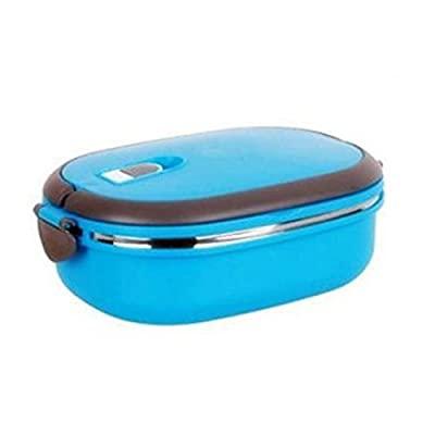 COFFLED Stainless Steel Bento Lunch Box,Premium Leak-proof Portable Food Storage Container,Perfect Super-easy-carrying Bento Box with Super High Quality for Students&Adults?Blue Color)