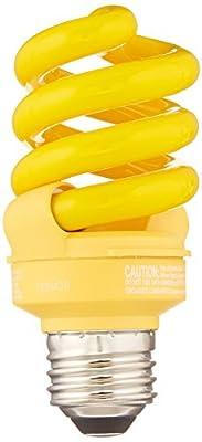 TCP CFL 60W Equivalent, Yellow Spiral Bug Light Bulb
