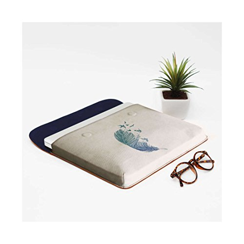 MacBook Envelope Feather Real Flock DailyObjects Leather 13 Air Sleeve For Pro pPFfqPw