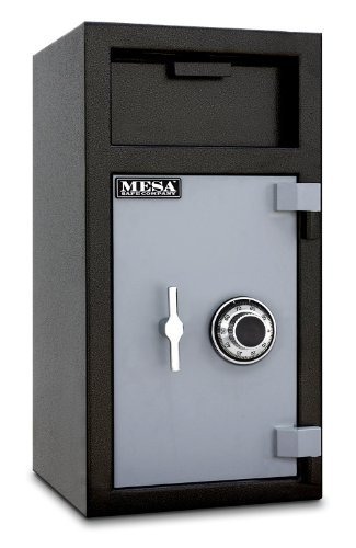 Mesa Safe MFL2714C All Steel Depository Safe with Combination Lock, 1.4-Cubic Feet, Two tone Black and Grey