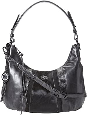 Elliott Lucca Intreccio Demi 105751 Hobo,Crocodile Black,One Size
