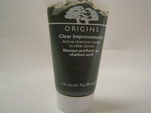 Origins Clear ImprovementTM Active Charcoal Mask To Clear Pores 1 ounce Travel Size