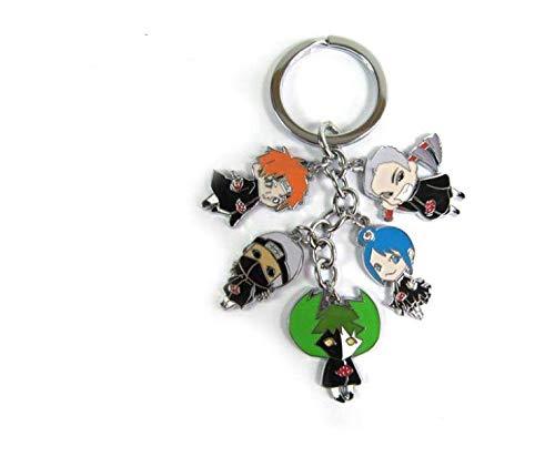 2017 Anime Cartoon Anime Naruto Kakashi Gaara Keychain Charm Cell Phone Strap Accessories Metal Alloy Keychain