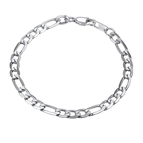 PROSTEEL Stainless Steel Italian Figaro Link Chain Bracelet 6mm 8.3''Men Women Children Jewelry Gift