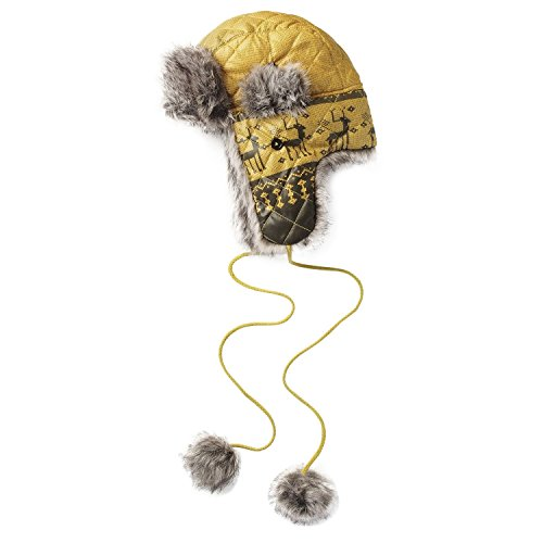 Fashion Hat House Unisex Blitzen Reindeer Trapper Hat (One size (23in)) (Yellow)