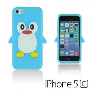 OnlineBestDigital - Penguin Style Silicone Case for Apple iPhone 5C - Light Blue