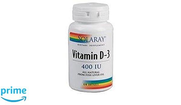 Vitamina D3 120 perlas de 400UI de Solaray: Amazon.es: Salud y cuidado personal