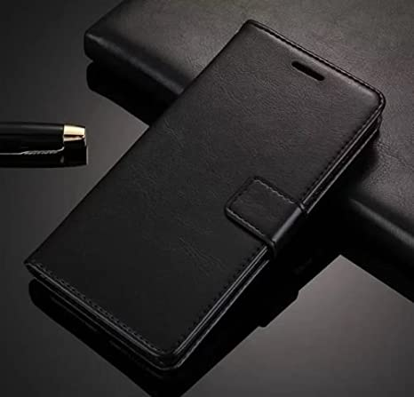 finest selection 9ce6d d22b6 Febelo Redmi Note 6 Pro Cover Case, Inner TPU, Leather Magnetic Lock Flip  Cover Case for Mi Redmi Note 6 Pro - Vintage Black