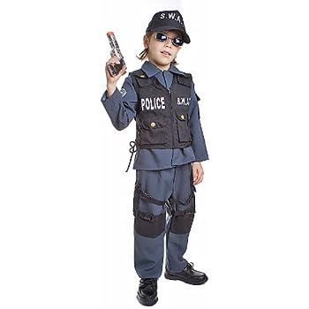 Amazon.com: Disfraz de policía Swat Stealth para niño, XS ...