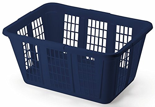 Rubbermaid Blue Rectangular Laundry Basket by Rubbermaid