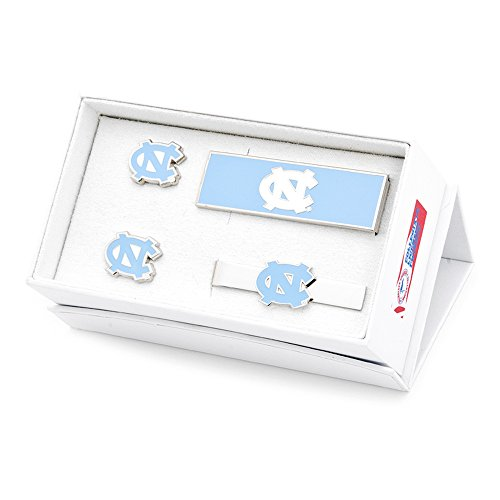 NCAA Mens North Carolina Tarheels 3-Piece Gift Set by Cufflinks