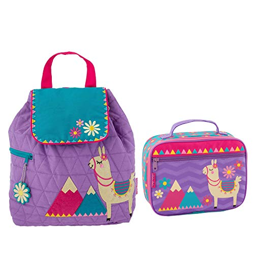 (Stephen Joseph Girls Quilted Llama Backpack and Lunch Box for Kids)