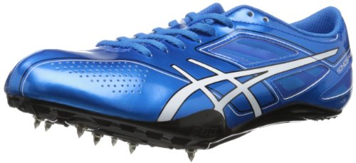 ASICS Men's Sonicsprint Track Shoe,Blue/White/Black,10.5 M US (Track Spikes Men Shoes)