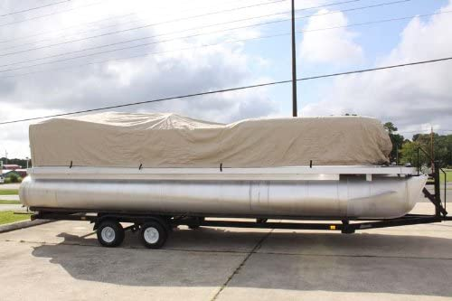 lastic and Straps, Ultra Pontoon Boat Cover [Vortex] Picture