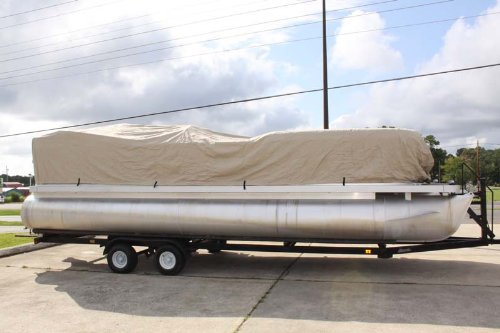 NEW VORTEXTAN/BEIGE 24' ULTRA 3 PONTOON/DECK BOAT COVER, HAS ELASTIC AND STRAPS FITS 22'1'' TO 23' TO 24' FT LONG, UP TO 102'' BEAM (FAST SHIPPING - 1 TO 4 BUSINESS DAY DELIVERY) by Vortex