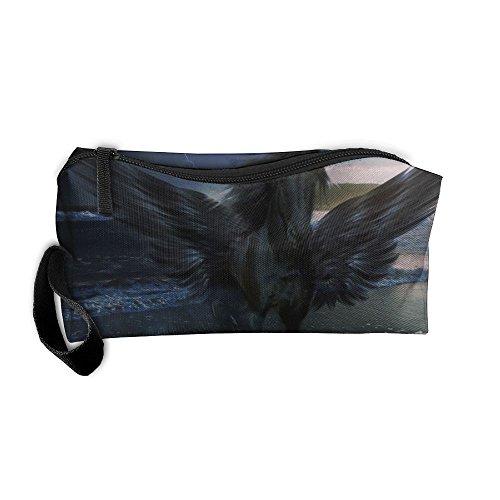 (Jessent Coin Pouch Pegasus Pen Holder Clutch Wristlet Wallets Purse Portable Storage Case Cosmetic Bags)
