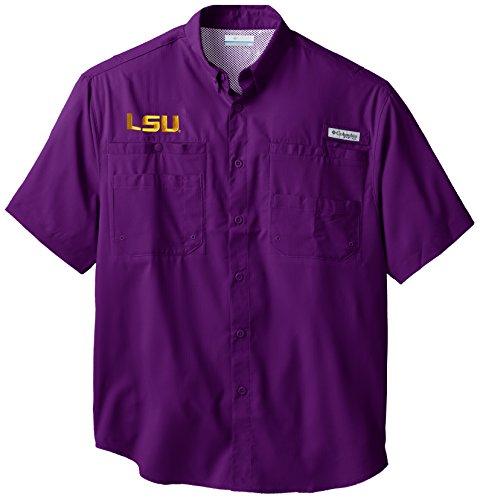 NCAA LSU Tigers Collegiate Tamiami Shirt, Vivid Purple, Large