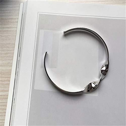 minimalist twist burnished gold silver metal bracelet lady bracelets fine bracele,Platinum Plated by Rankei bracelets (Image #3)