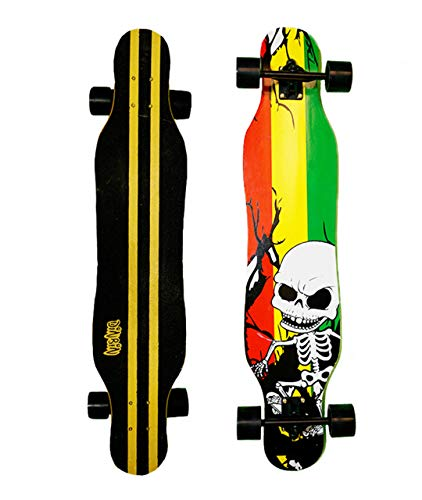DINBIN Longboard Skateboard 41 Inch Drop Through Deck Complete Cruiser for Cruising,Carving,Freeride,Downhill and Dancing